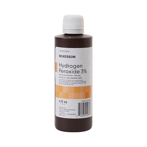 McKesson Hydrogen Peroxide Antiseptic, 4 oz. Bottle