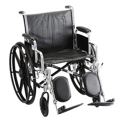 Wheelchair with elevated leg rest and detachable desk arm