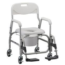 Shower Chair_Commode with Swing Away Footrests