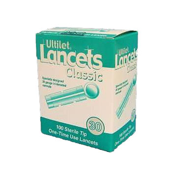 Ultilet Classic Disposable Lancets with Sterile Tip 30G