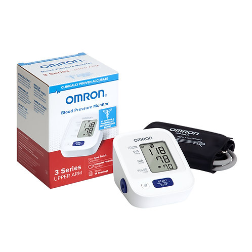 Omron 3 Series Digital Blood Pressure Monitoring Unit 1 Tube, Pocket Size, Handh
