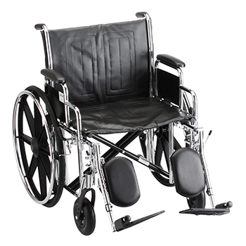 Wheelchair with elevated leg rest