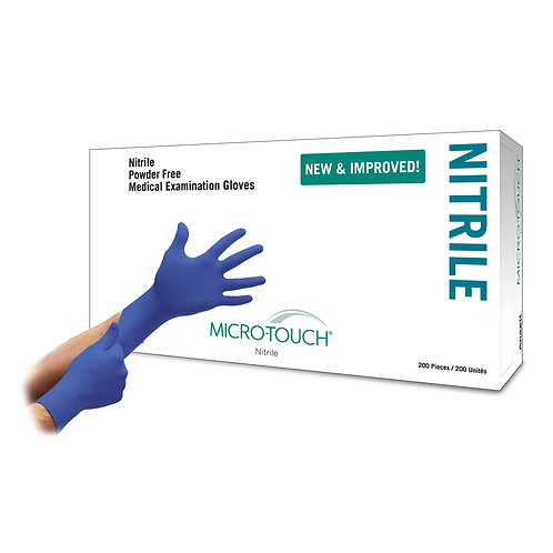 Micro-Touch® Nitrile Exam Glove, X-Small, Blue