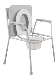 Overwide Bedside Commode toilet seat up.