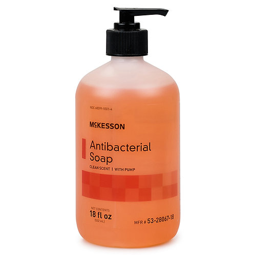 McKesson Clean Scent Antibacterial Soap, 18 oz. Bottle