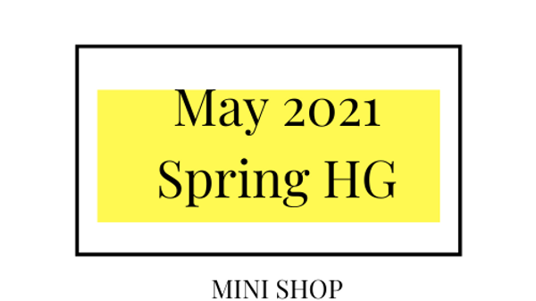Mini Online Shop - May 2021 - Spring Hourglass