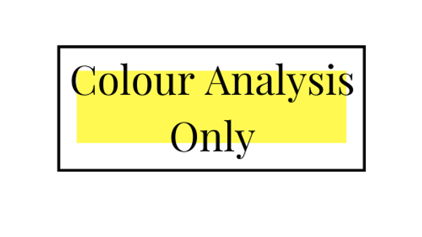 Colour Analysis Only