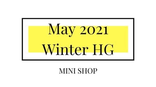 Mini Online Shop - May 2021 - Winter Hourglass