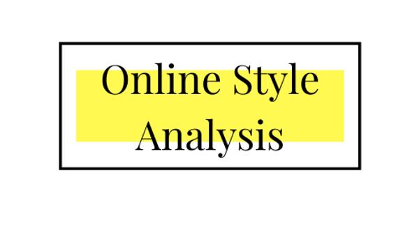 Online Style Analysis