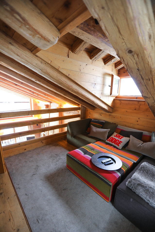 Glassed off TV area, Master Suite, Chalet Milou