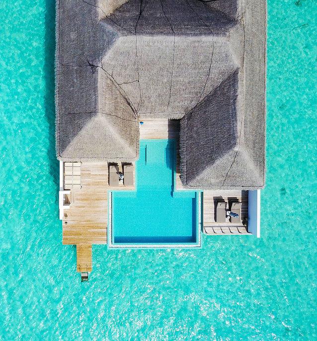 Villa 888 Deck and lagoon