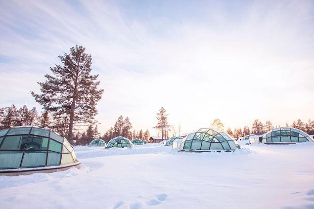 Igloos at Kakslauttanen Arctic Resort