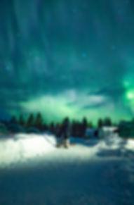 Aurora lit sky