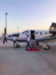 Disembarking the jet