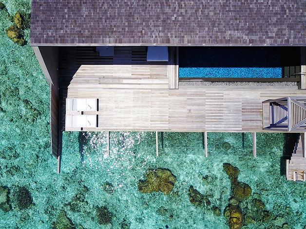 Birds eye view of St Regis Suite Maldives