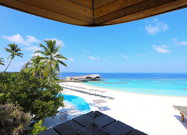 View from the boutique -St Regis Maldives