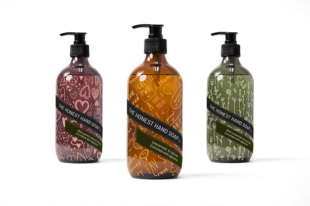 AOP vectoriel sur 3 distributeurs savon