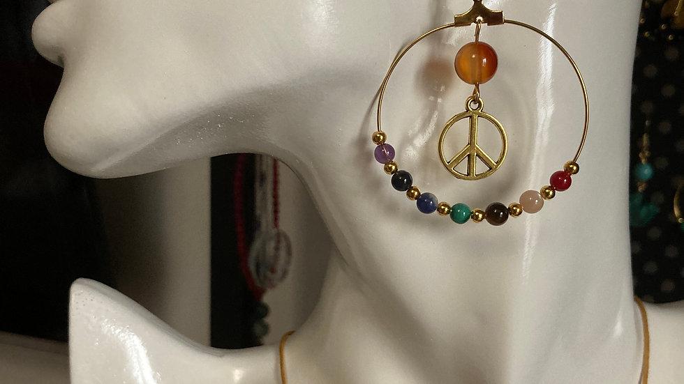 Boucles d'oreilles 7 chakras