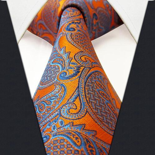 Orange/Blue Modern Swirl