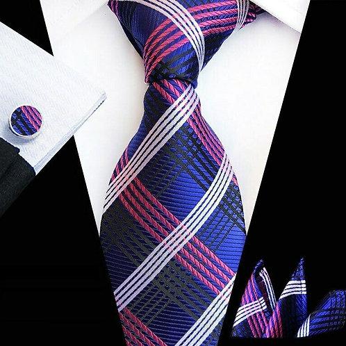Pink/Purple Multi Stripe Tie Set
