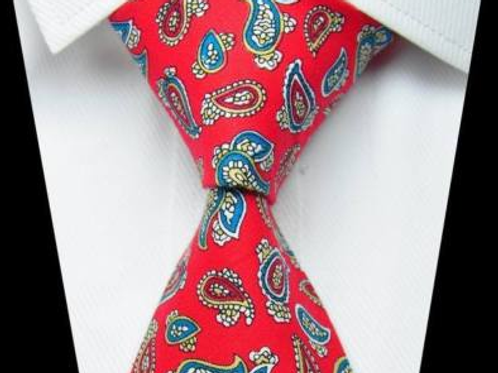 *NEW* Classic Red Cotton Paisley