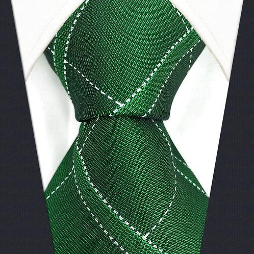 Emerald Green/White Stripe