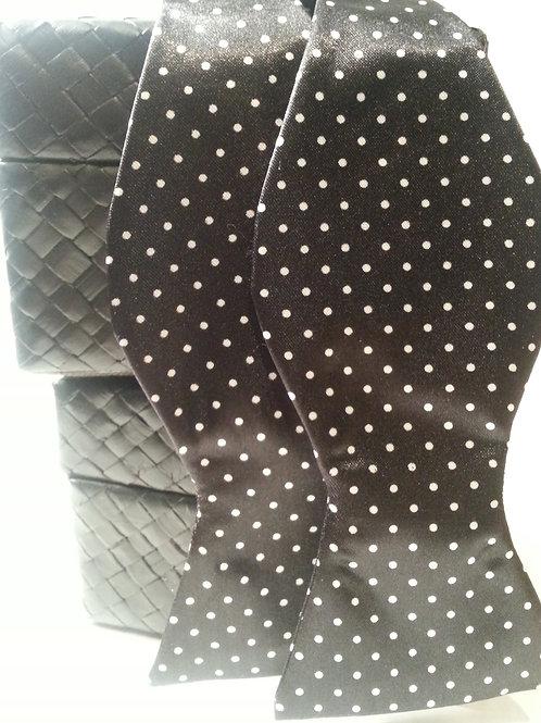 Black/White Mini Dot Bow Tie