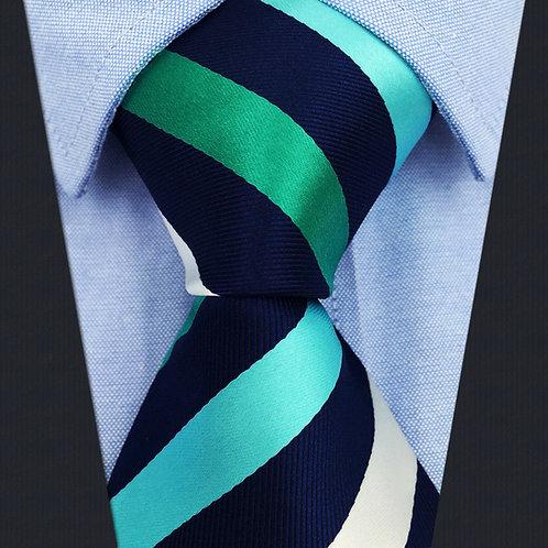 Blue/Aqua/White Classic Stripe