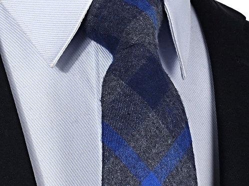 Cotton/Wool Blue Stripe