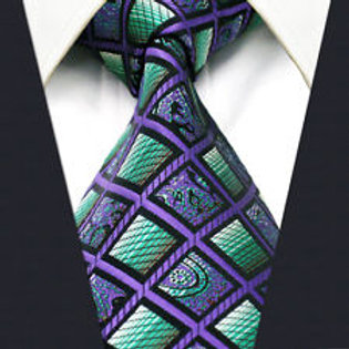 Purple/Green Geo Squares