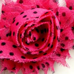 Hot Pink/Black Dot Lapel Pin
