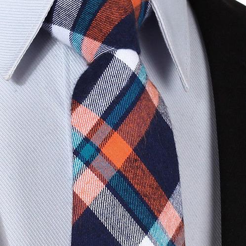 Orange/Blue Wool Tie Set
