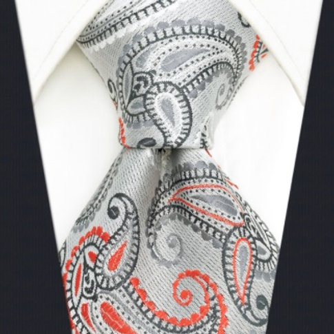 Gray/Red Classic Paisley