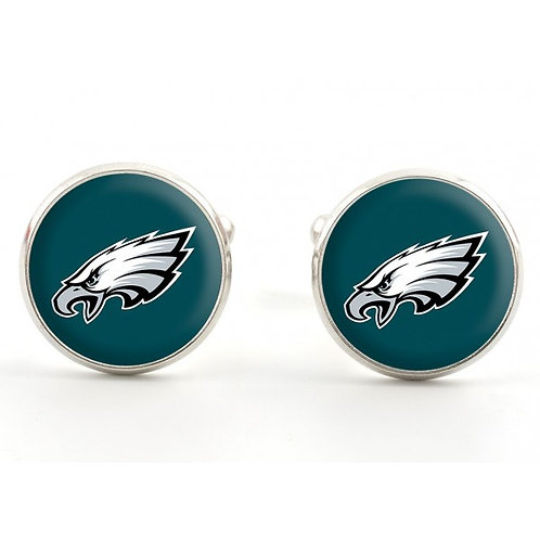 Green Philadelphia Eagles Cufflinks