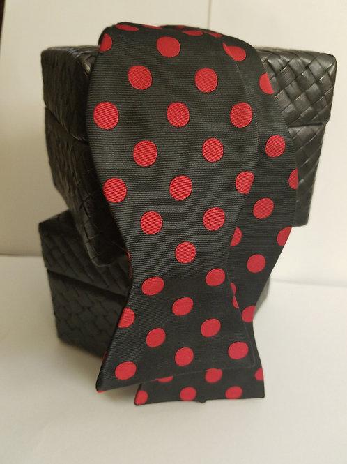 Black Red Polka Dot Bow Tie