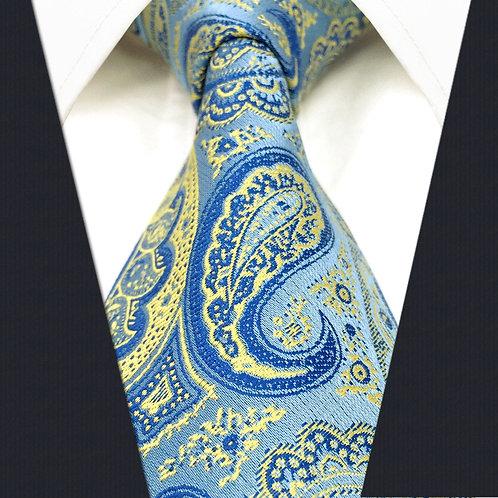 Blue/Yellow Modern Paisley