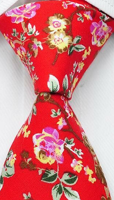 *NEW* Bright Red Cotton Floral