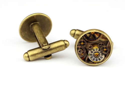 """Time Wise"" Resin Cufflinks"