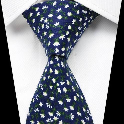 Navy Blue/White Poppy Floral