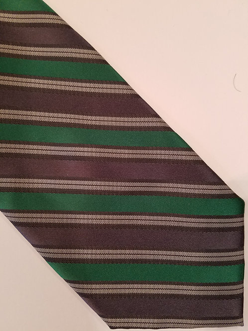 SALE Green Gray Stripe