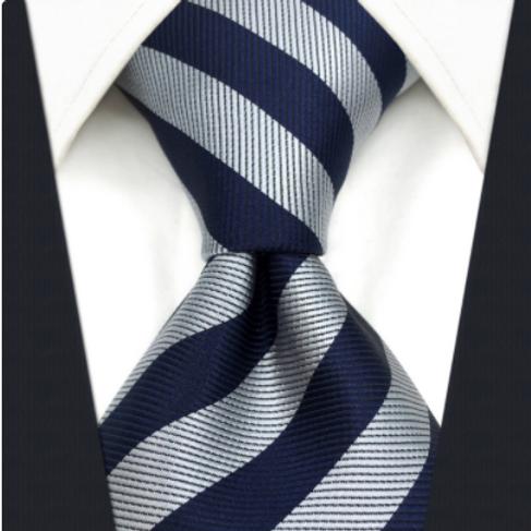 Gray/Navy Schoolboy Stripe