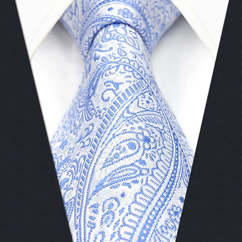 Blue/White Modern Paisley