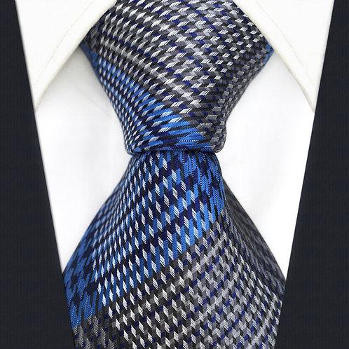 Gray/Blue Scottish Stripe