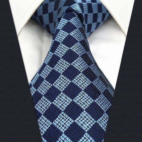 Blue/Navy Diamond Squares