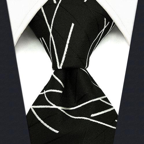 Black/White Abstract Stripe