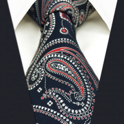 NEW! Navy/Red Classic Paisley