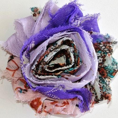 Purple/Lavender Floral Lapel Pin
