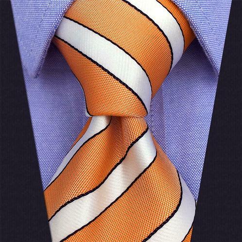 Orange / White Stripe