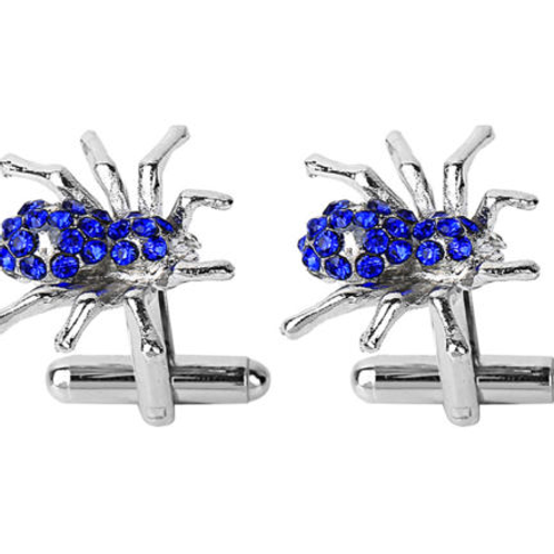 Blue Spider Cufflinks