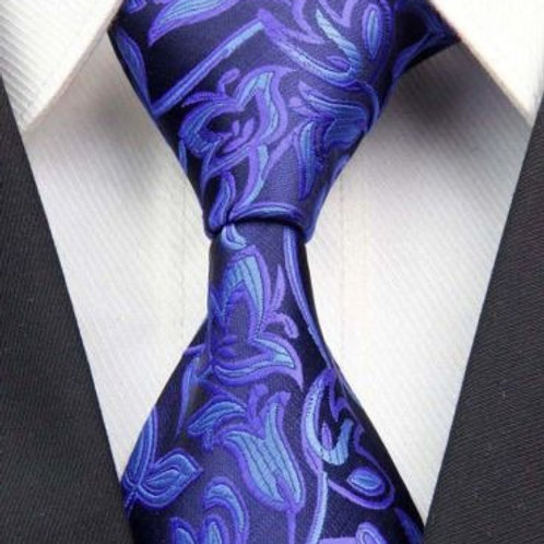 All Blue Floral Paisley